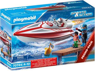 Playmobil® Konstruktions-Spielset »Speedboot mit Unterwassermotor (70744), Sports & Action«, (24 St), Made in Germany