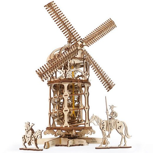 UGEARS 3D-Puzzle »UGEARS Holz 3D-Puzzle Modellbausatz WINDMÜHLE - Tower Windmill«, 585 Puzzleteile