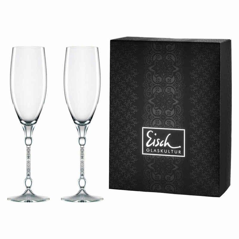 Eisch Champagnerglas »2er Set 10 Carat Sensis plus«, Kristallglas
