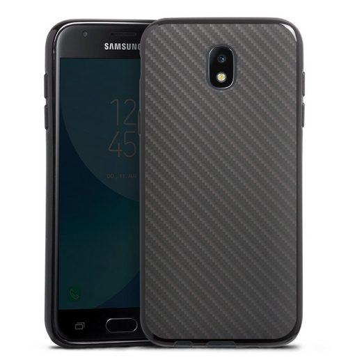 DeinDesign Handyhülle »Carbon« Samsung Galaxy J3 (2017), Hülle Metallic Look Carbon Muster