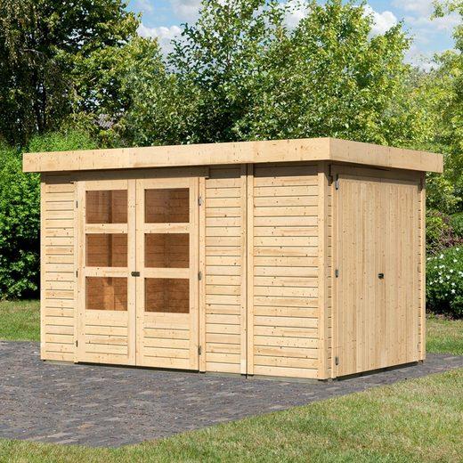 WOODFEELING Gartenhaus »Retola 3«, BxT: 342x238 cm, mit Anbauschrank