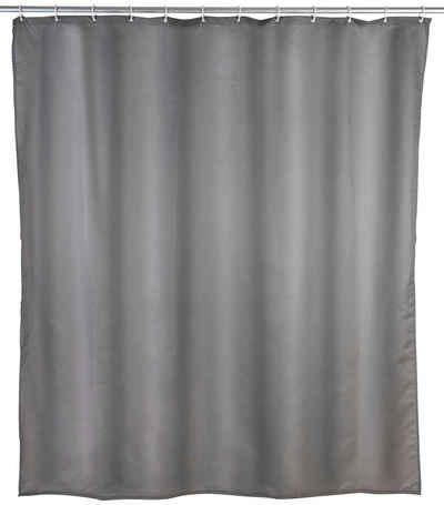 WENKO Duschvorhang »Uni Weiß« Breite 240 cm, Höhe 180 cm, Textil (Polyester)