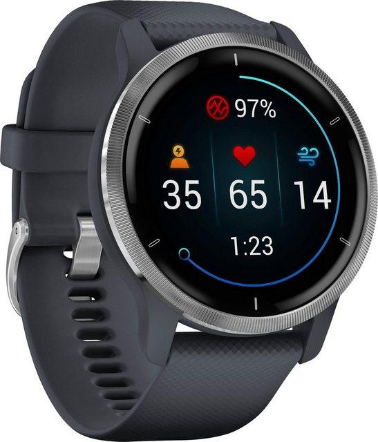 Garmin Venu 2 Smartwatch (3,3 cm/1,3 Zoll), 25 vorinstallierten Sport-Apps