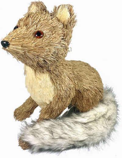 Tierfigur »Fuchs« (1 Stück), aus Bast und Kunstpelz