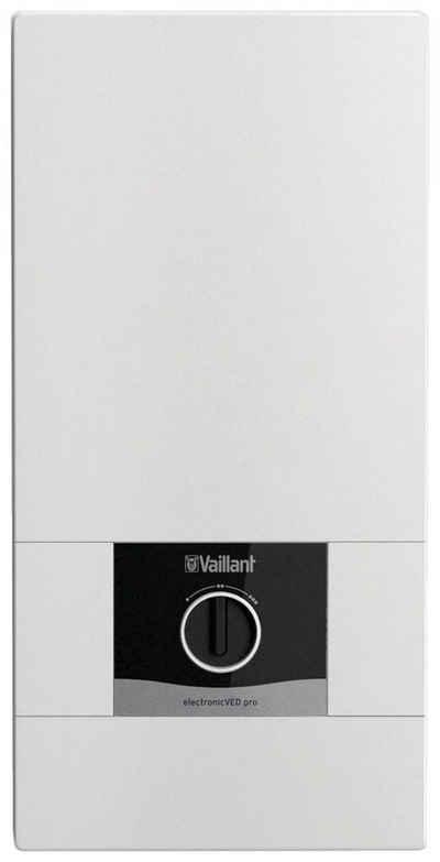 Vaillant Durchlauferhitzer »VEDE21/8PRO«, elektronisch, 35 °C, max 55 °C, 1 St., mit extra flacher Bauweise