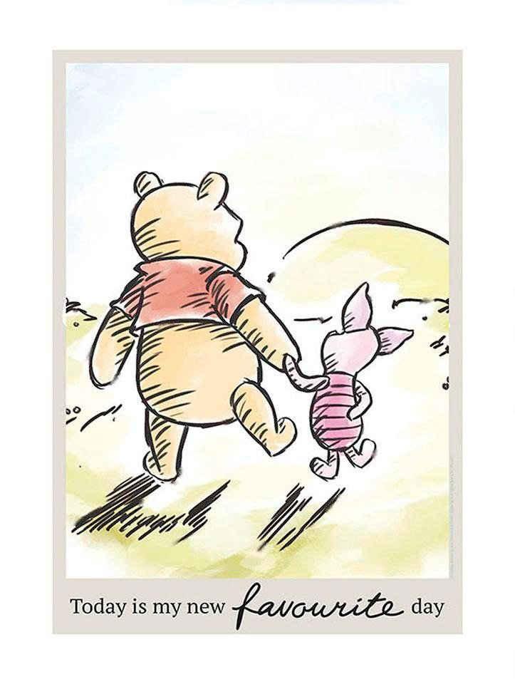 Komar Poster »Winnie Pooh Today«, Disney, Höhe: 70cm