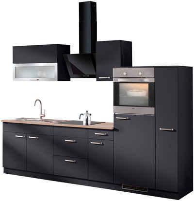 wiho Küchen Küchenzeile »Michigan«, mit E-Geräten, Gesamtbreite 290 cm