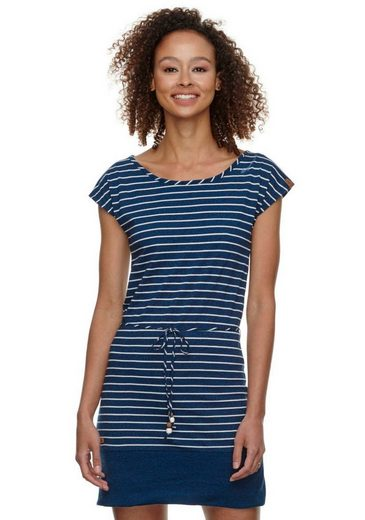 Ragwear Shirtkleid »SOHO STRIPES« (2-tlg., mit Bindeband) im maritimen Streifen-Look