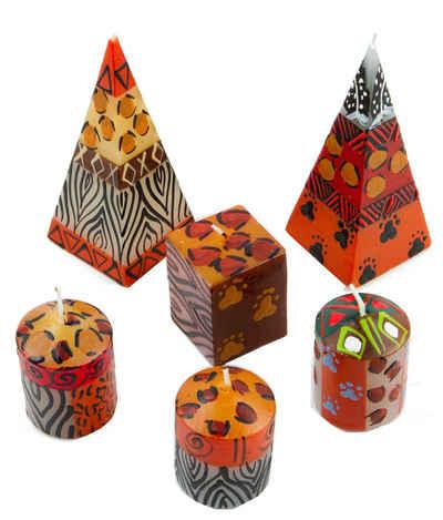 Afrika-Deko Formkerze »6er-Kerzenset«