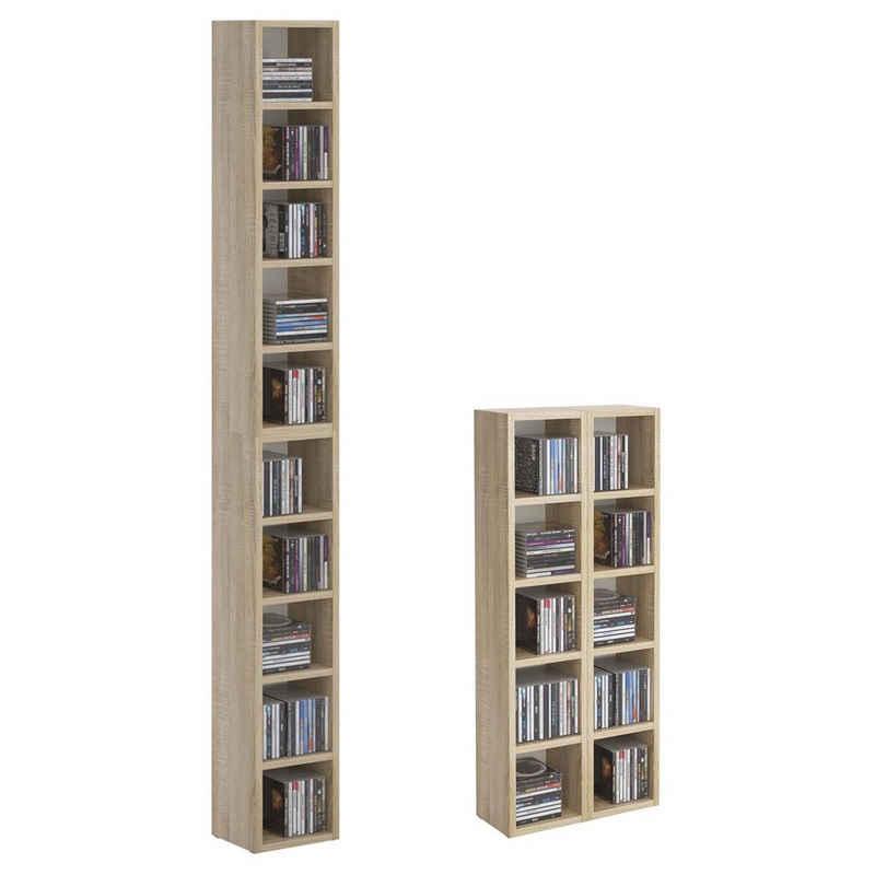 CARO-Möbel CD-Regal »CHART«, CD DVD Blueray Regal Hänge Stand Wand Aufbewahrungs Dekoregal bis zu 160 CDs