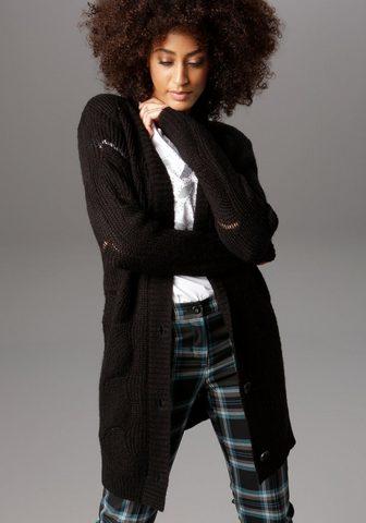 Aniston SELECTED Ilgas megztinis im aufwendigen Lochstr...