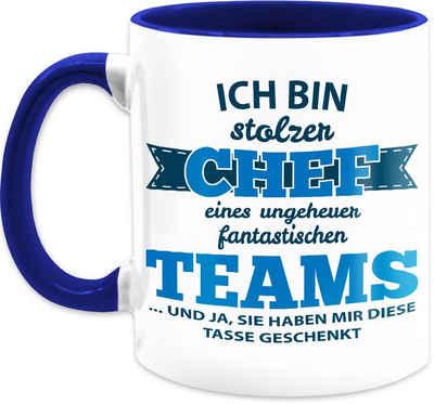Shirtracer Tasse »Stolzer Chef eines fantastischen Teams - Tasse Berufe - Tasse zweifarbig«, Keramik