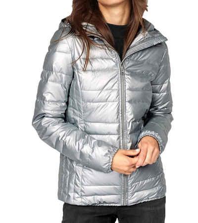 AJC Steppjacke »AjC Winterjacke gesteppte Damen Outdoor-Jacke im Metallic-Look Freizeit-Jacke Grau«
