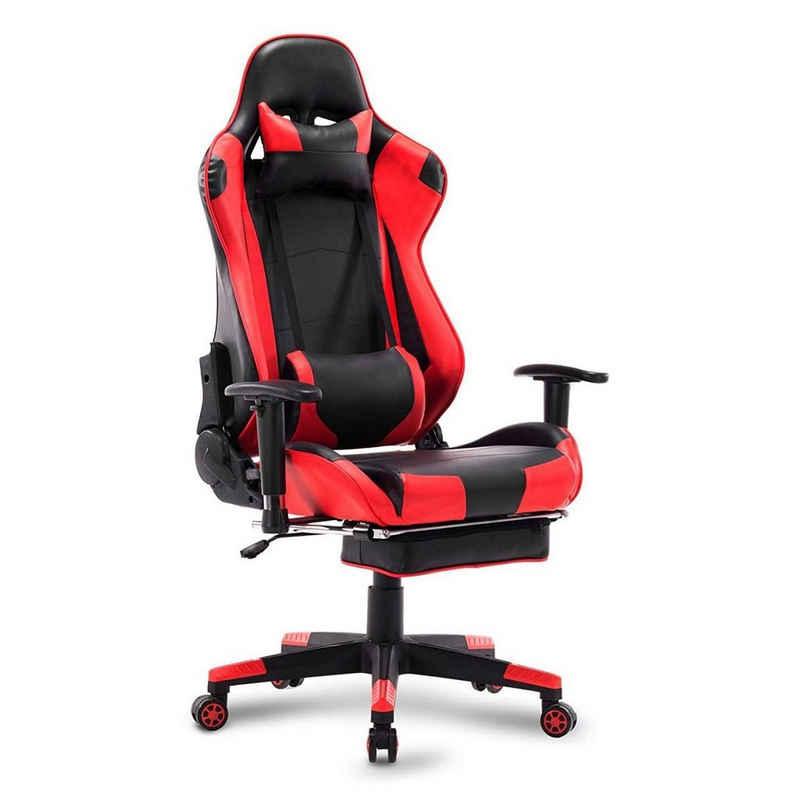Woltu Gaming-Stuhl »BS14«, Gamingstuhl Racingstuhl Drehstuhl Kunstleder Modell Mario