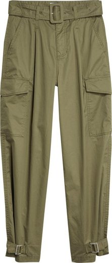 TOMMY JEANS Cargohose »TJW HIGH RISE BELTED PANT« (2-tlg) in Riegeln am Beinabschluss