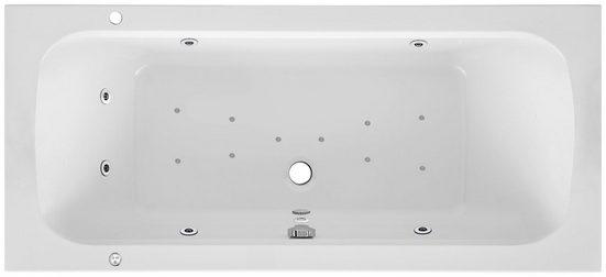 OTTOFOND Whirlpool-Badewanne »Malta«, (Komplett-Set), Typ Premium, chrom
