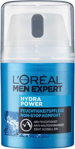 L'ORÉAL PARIS MEN EXPERT Feuchtigkeitscreme »Hydra Power«, für sensible Männerhaut; zieht schnell, ohne fetten ein