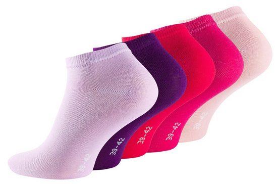 Reslad Sneakersocken »Damen & Herren Sneaker Socken Kurz (10 x Paar)« (10-Paar) Sneakersocken Füßlinge Unisex