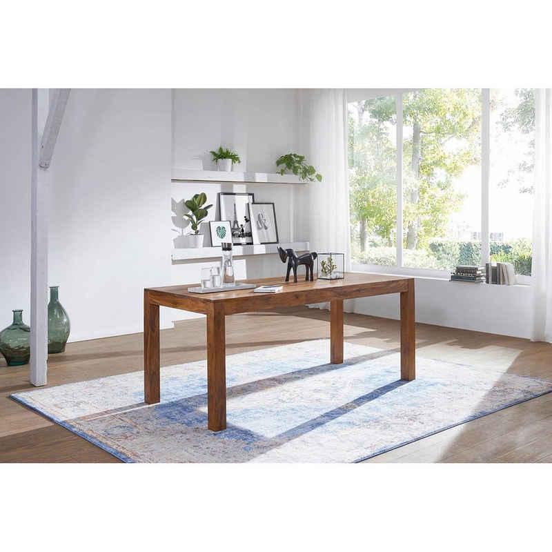 Lomadox Esstisch, Design aus Massivholz 140 x 80 x 76cm, Sheesham B/H/T ca. 140/76/80cm