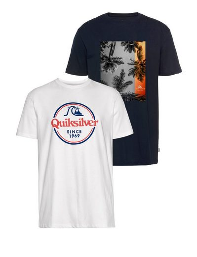 Quiksilver T-Shirt »REMAINS LIVES FLAXTON PACK« (Packung, 2-tlg., 2er-Pack)