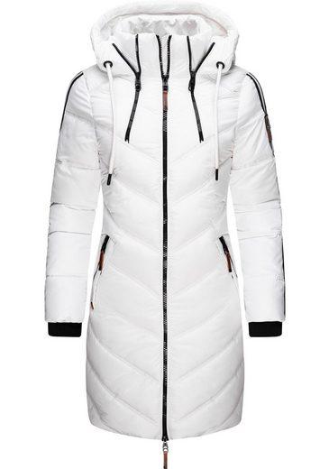 Marikoo Wintermantel »Armasa« modischer Damen Winter Steppmantel mit Kapuze