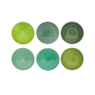Neuetischkultur Platzteller Platzteller 6er-Set Grün, 6-teilig, 6-tlg., Platzteller