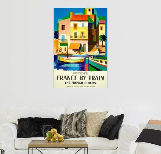 Posterlounge Wandbild, Frankreich mit dem Zug – French National Railroads