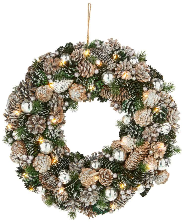 Dekokranz »Weihnachten«, mit 30 warmweißen LEDs