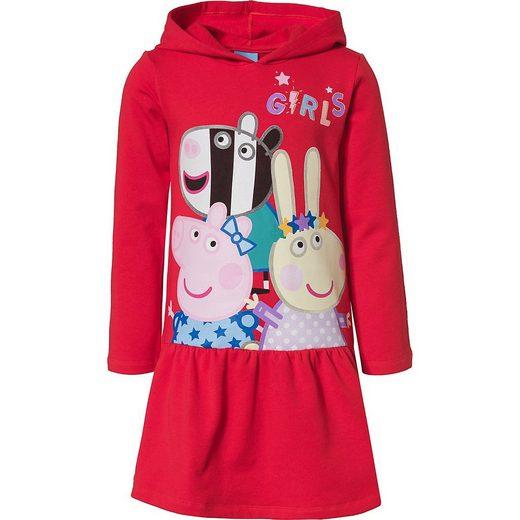 Peppa Pig Jerseykleid »Peppa Pig Kinder Sweatkleid mit Kapuze«
