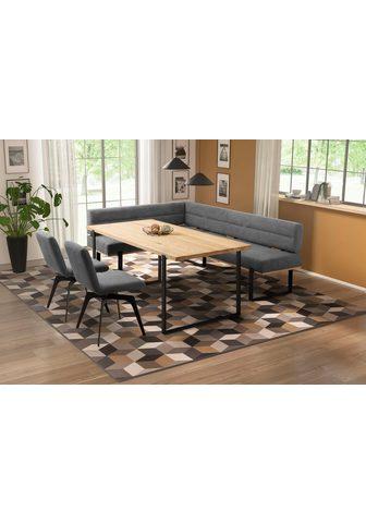 Kampinis virtuvės suolas su kėdėmis »E...
