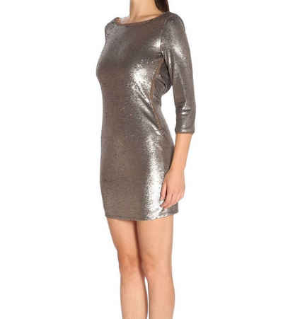 Patrizia Pepe Minikleid »PATRIZIA PEPE Mini-Kleid schickes Damen Party-Kleid 3/4 Arm Abend-Kleid Gold«