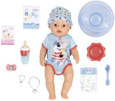 Baby Born Babypuppe »Magic Boy, 43 cm« (Set, 13-tlg), mit 10 lebensechten Funktionen
