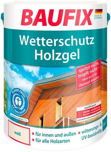 Baufix Holzschutzlasur »Weiß«, 5 Liter, weiß