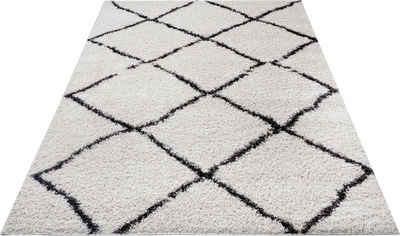 Hochflor-Teppich »Cooper«, my home, rechteckig, Höhe 30 mm, Wohnzimmer