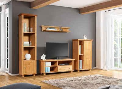 Home affaire Wohnwand »Tracy«, (Set), aus massivem Kiefernholz, Set 4-tlg.