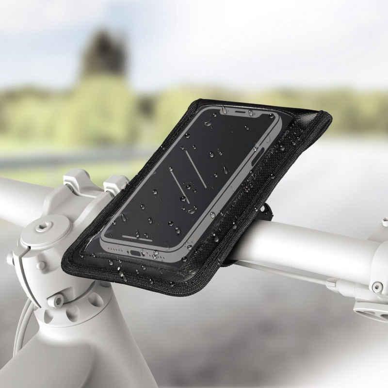 Hama »Universal Halterung Fahrrad-Halter« Handy-Halterung, (Fahrrad-Lenker Tasche, Universell, auch für eBike, wasserfest, Steuerungszugriff)