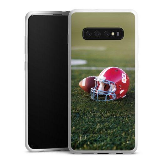 DeinDesign Handyhülle »American Football Stadium« Samsung Galaxy S10 Plus, Hülle Fanartikel American Football Fußballer