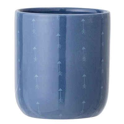 Bloomingville Blumentopf »blau 10 x 11cm«, 600 ml, Übertopf, Blumenübertopf, Keramik, dänisches Design