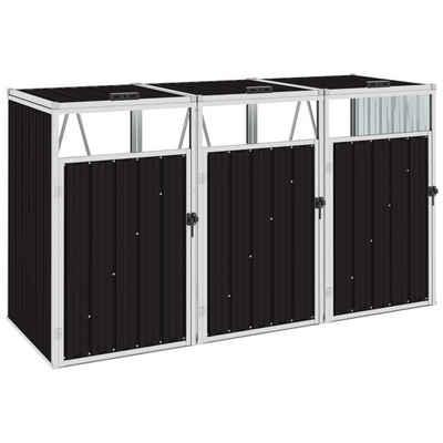 vidaXL Mülltonnenbox »vidaXL Mülltonnenbox für 3 Mülltonnen Braun 213×81×121 cm Stahl«