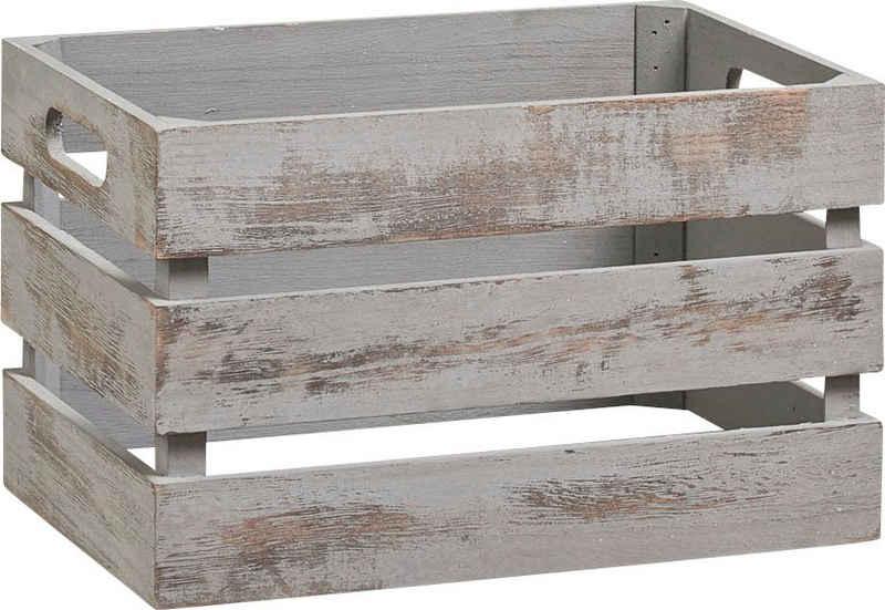 Zeller Present Holzkiste »Vintage« (1 Stück), Tiefe: ca. 21 cm, Breite: ca. 31 cm