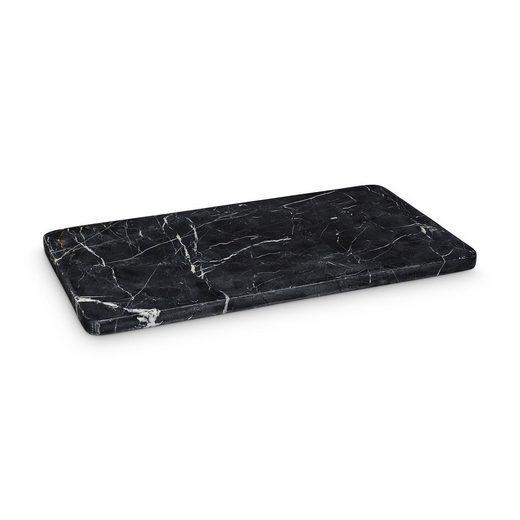 houseproud Kuchenplatte »Flat Servierablage aus schwarzem Marmor«