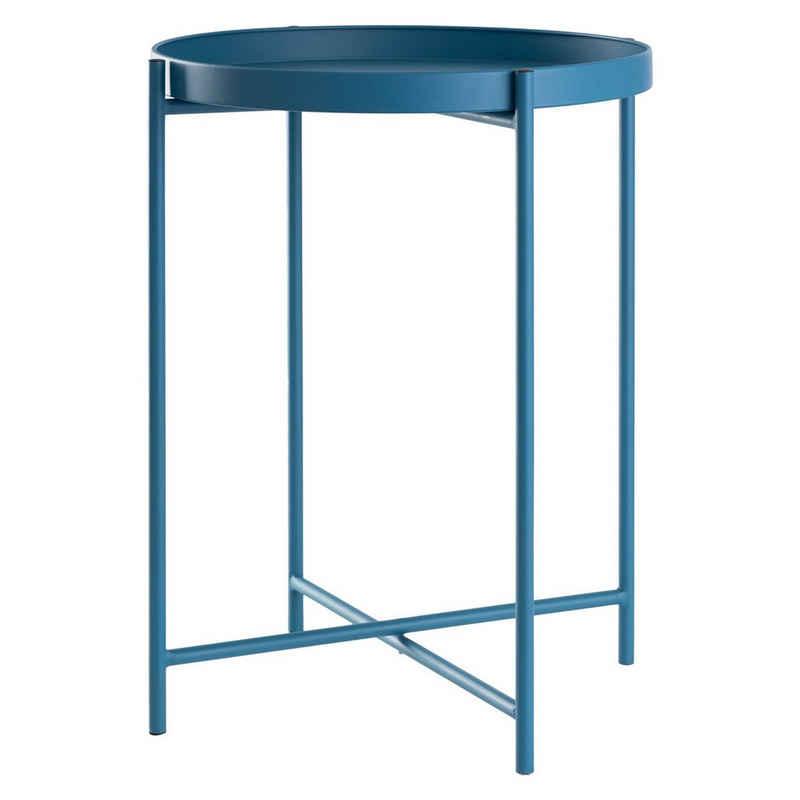 DAY - USEFUL EVERYDAY Tabletttisch »Beistelltisch rund Ø38xH50cm Metall blau«