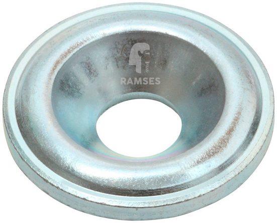 RAMSES Senkscheibe , für Holzbauschrauben 8 mm Stahl blau verzinkt 50 Stück