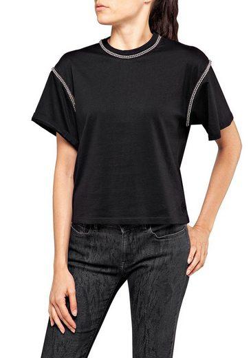 Replay T-Shirt Oversized mit dekorativen Details