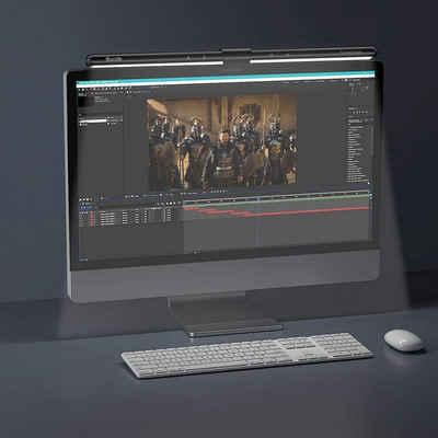Quntis LED Schreibtischlampe, 22-29 Zoll Computer Monitor Lampe LED USB mit Touch Control, Anti-Blaulicht Anti-Strahlung Bildschirmlampe mit Auto-Dimmen, Schreibtischlampe für PC mit einstellbarer Farbtemperatur Helligkeit