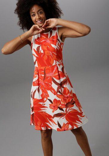 Aniston SELECTED Partykleid im femininen Allover-Print