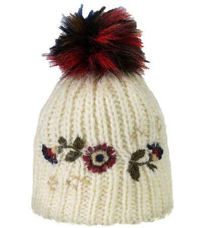 CAMPAGNOLO Beanie »Campagnolo Paula Mütze kuschelige Damen Bommel-Mütze mit Futter Winter-Mütze Beige«