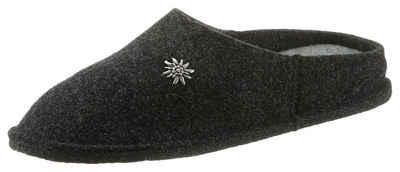 Hirschkogel Hausschuh (1-tlg) Damen Trachtenhauspantolette mit schmückendem Edelweiß