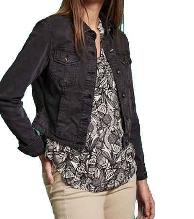 NILE Jeansjacke »NILE Jeans-Jacke schicke Damen Frühlings-Jacke mit Brusttaschen Alltags-Jacke Schwarz«