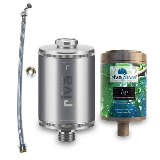 rivaALVA Wasserfilter rivaALVA Life Trinkwasserfilter inkl. Schlauchanschluss-Set, Zubehör für Wasserhahn